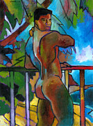 Male Nude Paintings - South Pacific by Douglas Simonson