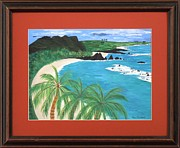 Original  By Artist Paintings - South Pacific by Ron Davidson