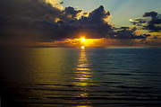 South Padre Island Texas Posters - South Padre Island Sunrise Poster by Debbie Karnes