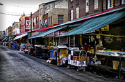 Italian Market Metal Prints - South Philly Italian Market Metal Print by Bill Cannon