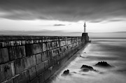 Breakwater Prints - South Pier Print by David Bowman