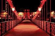 Old Bridge Photos - South Portland Street Suspension Bridge by Grant Glendinning