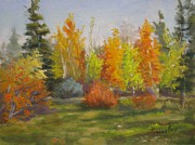 Tall Tree Paintings - South Sask. Dr. Park by Mohamed Hirji