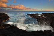 Kauai Photos - South Shore Spray by Mike  Dawson