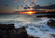 Poipu Photos - South Shore Waves by Mike  Dawson