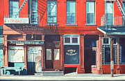 Brick Building Painting Framed Prints - South Street Framed Print by Anthony Butera