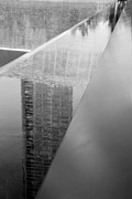 11 Wtc Digital Art Metal Prints - SOUTH TOWER REFLECTIONS in BLACK AND WHITE Metal Print by Rob Hans