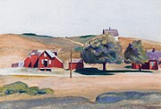 Signed Painting Prints - South Truro Post Office I Print by Edward Hopper