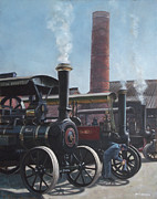 Industrial Paintings - Southampton Bursledon Brickworks Open Day by Martin Davey