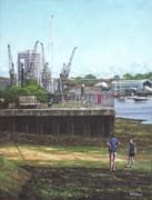 Southampton River Itchen Chapel Tredegar Wharf Print by Martin Davey