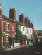 Terraced Houses Painting Framed Prints - Southampton Rockstone Lane Framed Print by Martin Davey