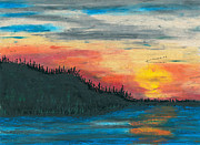 Canada Art Pastels Prints - Southbound Print by R Kyllo