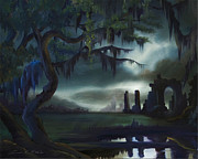 Haunted Mansion  Paintings - Southern Arch by James Christopher Hill