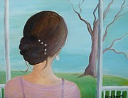 Southern Plantation Paintings - Southern Belle by Glenda Barrett