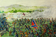 Civil Paintings - Southern Charge by Philip Lee