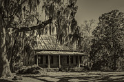 Old Cabins Photo Posters - Southern Comfort Antique Poster by Debra and Dave Vanderlaan