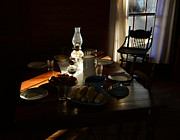 Oil Lamp Photos - Southern dinning by David Lee Thompson