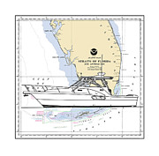 Jack Pumphrey - Southern Florida Nautical Chart with quick yacht