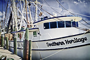 Shrimp Boat Prints - Southern Heritage 2 Print by Patrick M Lynch