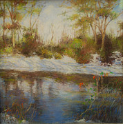 River Scenes Pastels Prints - Southern Landscapes   Print by Nancy Stutes
