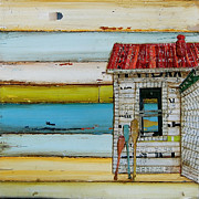 Stripes Mixed Media - Southern Maine Beach Shack by Danny Phillips