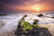 Sea Shore Prints - Southern Maui Sunset Print by Hawaii  Fine Art Photography