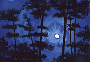 Ashcan School Paintings - Southern Moon by Arthur Barnes