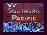 Tag Art Framed Prints - Southern Pacific Framed Print by Donna Blackhall