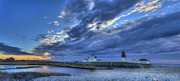Ri Lighthouse Prints - Southern RI Sunrise Print by Jeff Bord