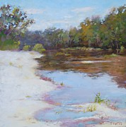 Louisiana Artist Pastels Prints - Southern River Print by Nancy Stutes