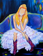 Gown Paintings - Southern Sass by Debi Pople