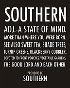 Blackberry Digital Art Acrylic Prints - Southern State of Mind black and white Acrylic Print by Debbie Karnes