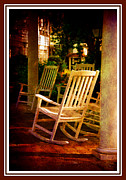 Rocking Chairs Posters - Southern Sunday Afternoon Poster by Susanne Van Hulst