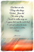 Southern Sunset - Digital Effect With Verse Print by Debbie Portwood