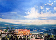 Southern Utah Painting Framed Prints - Southern Utah panorama Framed Print by Matthew Chatterley
