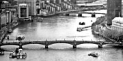 Tilt Shift Framed Prints - Southwark Bridge Framed Print by Sharon Lisa Clarke