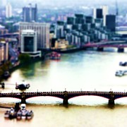 Tilt Shift Posters - Southwark London Poster by Sharon Lisa Clarke