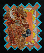 Southwest Pyrography Originals - Southwest Buffalo by Mike Holder
