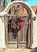 Southwest Gate Digital Art Framed Prints - Southwest Christmas Gate Framed Print by Barbara Chichester