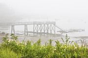  Southwest Harbor Prints - Southwest Harbor - Foggy Weather - Mount Desert Island - Maine Print by Keith Webber Jr