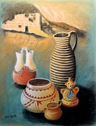 Pottery Pastels - Southwest Indian Pottery Two by Richard Nervig