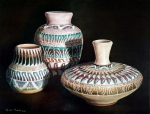 Pottery Paintings - Southwest Pottery by Linda Becker