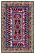 Indian Tapestries - Textiles Framed Prints - Southwest Tapestry I Framed Print by Lawrence Chvotzkin