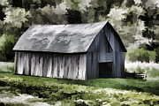 Tommytroutphoto Prints - Southwest Wisconsin Barn Painted Print by Thomas Young