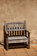 Decorative Benches Metal Prints - Southwestern Bench Metal Print by Art Block Collections