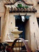 Southwestern Fountain Prints - Southwestern Doorway Print by Jayne Kerr