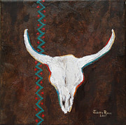 Steer Paintings - Southwestern Influence by Judith Rhue