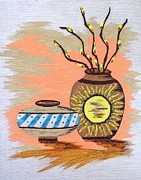 Clay Drawings - Southwestern Pottery 3 by Deborah Ross