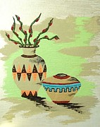 Clay Drawings - Southwestern Pottery  by Deborah Ross