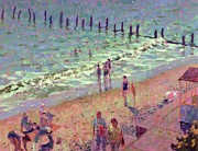 Beach Towel Acrylic Prints - Southwold July Morning Acrylic Print by Hugo Grenville